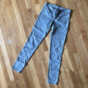 LF Carmar Shine Gray Metallic Stretch Skinny Jeans